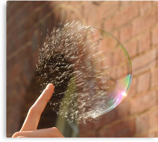 Popping Soap Bubble by Richard Heeks