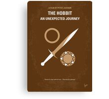 No166 My The Hobbit minimal movie poster Canvas Print