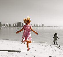 Girls at Katara Village Beach, Qatar by nthurman