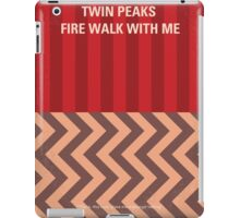No169 My Fire walk with me minimal movie poster iPad Case/Skin