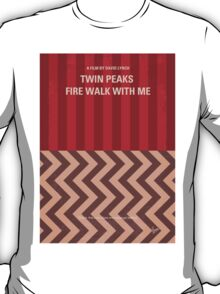 No169 My Fire walk with me minimal movie poster T-Shirt
