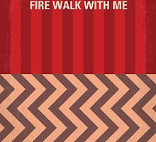 No169 My Fire walk with me minimal movie poster by JiLong