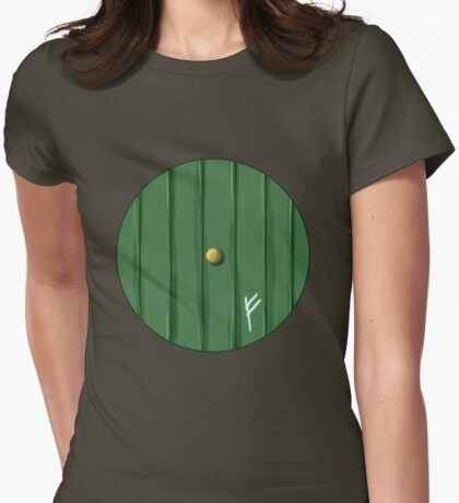 Bilbo's door Womens Fitted T-Shirt