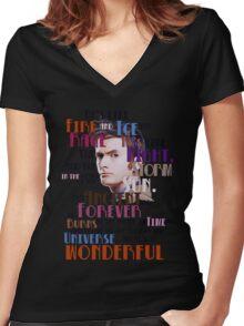 wonderful doctor Women's Fitted V-Neck T-Shirt