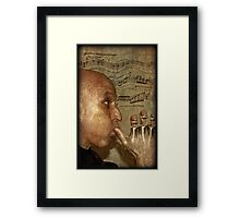 Blowing my own trumpet Framed Print