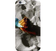 Girl on sand dune iPhone Case/Skin