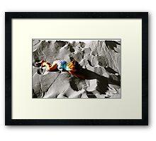 Girl on sand dune Framed Print