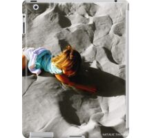 Girl on sand dune iPad Case/Skin