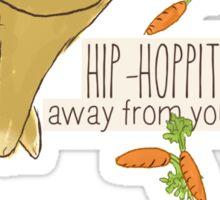 hip-hoppity-hopping (cream) Sticker