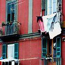 Naples Italy Laundry by Dana Roper