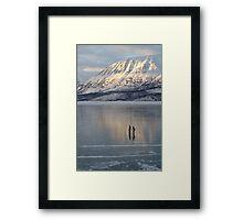 Alaska Skaters Framed Print