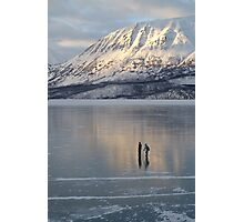 Alaska Skaters Photographic Print