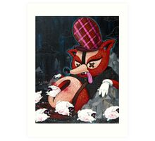 Out Foxed Art Print