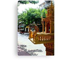 Khmer Altar in the street - Phnom Penh, Cambodia. Canvas Print