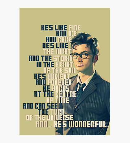David Tennant - He's wonderful Photographic Print