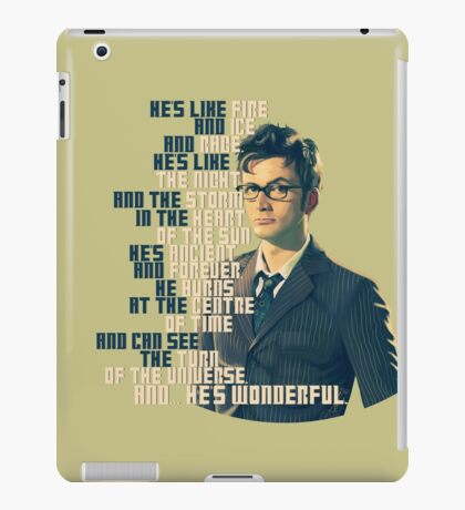 David Tennant - He's wonderful iPad Case/Skin
