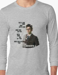 David Tennant - He's wonderful Long Sleeve T-Shirt