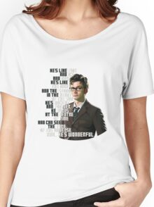 David Tennant - He's wonderful Women's Relaxed Fit T-Shirt