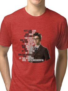 David Tennant - He's wonderful Tri-blend T-Shirt