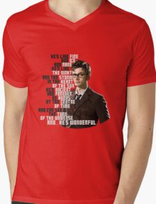 David Tennant - He's wonderful Mens V-Neck T-Shirt