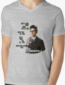 David Tennant - He's wonderful Mens V-Neck T-Shirt