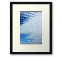 Knitted Cloud Framed Print