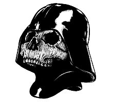 Vader Skull Photographic Print