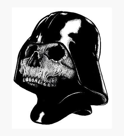 Vader Skull Photographic Print