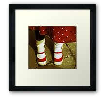 Minnie Mouse Feet Framed Print