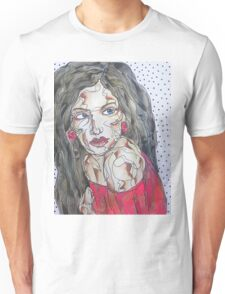 Woman In Red Dress Unisex T-Shirt