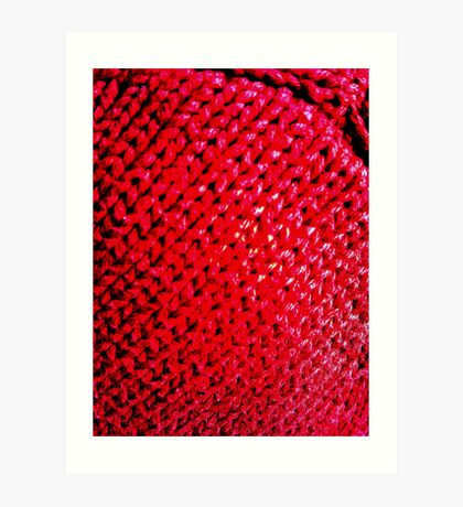 Knitted Art Print