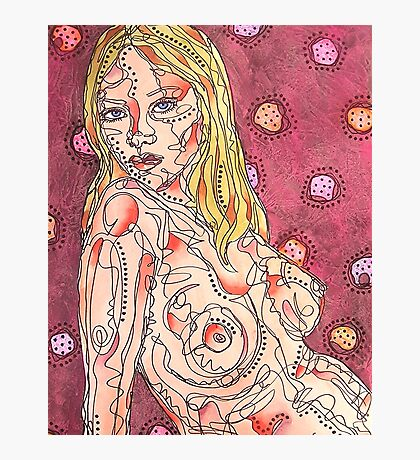 Nude With Circles Photographic Print