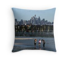 Up, up and away - leaving Sydney.  Throw Pillow