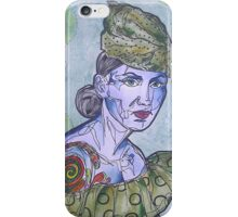 Tattooed Woman In Green iPhone Case/Skin