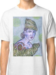Tattooed Woman In Green Classic T-Shirt