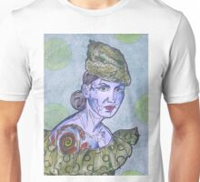 Tattooed Woman In Green Unisex T-Shirt