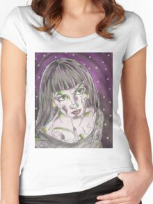 Goth Girl Women's Fitted Scoop T-Shirt