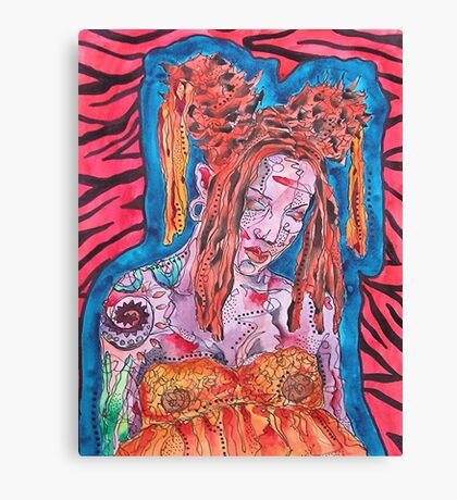 Goth Girl With Big Hair Canvas Print