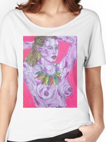Nude on Pink Ground Women's Relaxed Fit T-Shirt