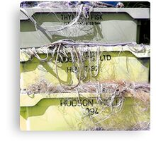 Stack Of Fishing Net Skips Canvas Print