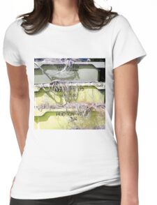 Stack Of Fishing Net Skips Womens Fitted T-Shirt