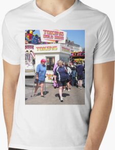 Token Ladies Mens V-Neck T-Shirt
