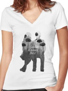 Bates Motel - Mother Knows Best Women's Fitted V-Neck T-Shirt