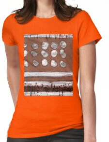 Abstract With Circles Womens Fitted T-Shirt