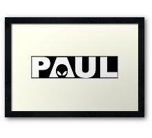 Paul Funny Geek Nerd Framed Print