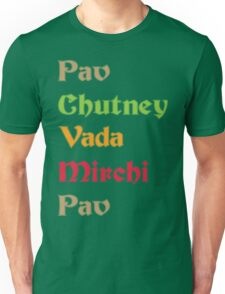 Pav Chutney Funny Geek Nerd Unisex T-Shirt