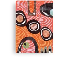 Funky retro orange print Canvas Print
