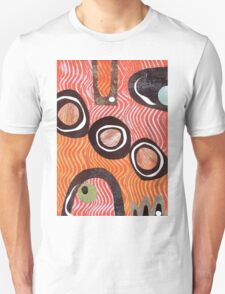 Funky retro orange print Unisex T-Shirt