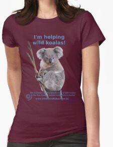 I'm helping wild koalas - Cloud Womens Fitted T-Shirt