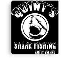 quints shark fishing amity island Funny Geek Nerd Canvas Print